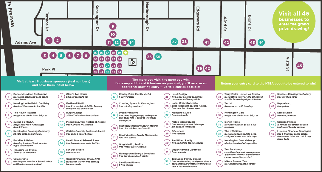 Walkabout Spring 2019 map